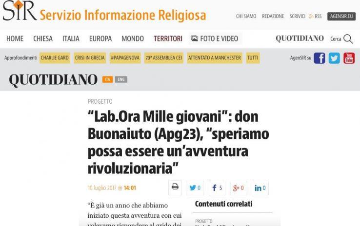 """Il SIR sull'intervento di Don Aldo a """"Lab.Ora – Mille giovani. Servitori del bene comune"""""""