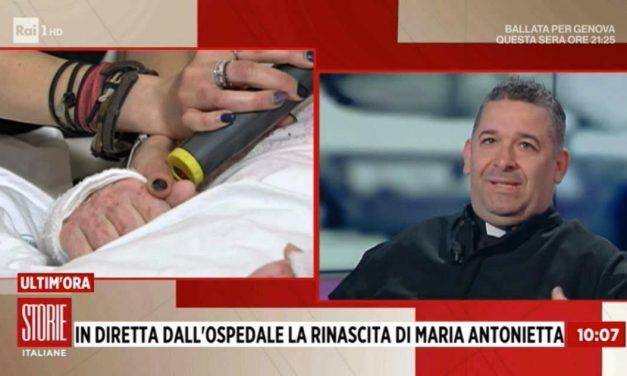 [ VIDEO ] STORIE ITALIANE, DON ALDO PARLA CON MARIA ANTONIETTA IN DIRETTA DALL'OSPEDALE