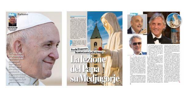Don Aldo sul settimanale VISTOTv: LA LEZIONE DEL PAPA SU MEDJUGORJE