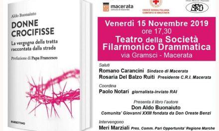 [DONNE CROCIFISSE] Oggi, 15 Novembre 2019, alle 17.30  la presentazione del libro al Teatro della Societa Filarmonico Drammatica di Macerata