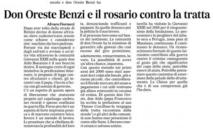 [Messaggero umbria] Don Benzi e il rosariocontro la tratta